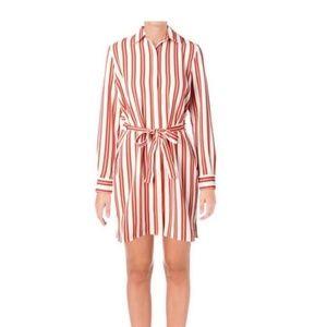 NWT Juicy Couture Black Label Stripe ShirtDress, L
